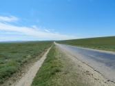 Takie proste, asfaltowe drogi też są w Mongolii