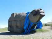 Jeden z czterech żółwi, jedyna pozostałość po stolicy dawnego imperium