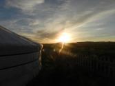 Zachód słońca nad Ogi Nur