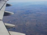 Mongolia z okien airbusa