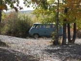 Nasz UAZ w lesie nad rzeką Onon