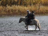 ... a to prom pasażerski na rzece Onon