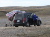 Przeprowadzka nad rzeką Onon. Mongolia, Chentej 2010