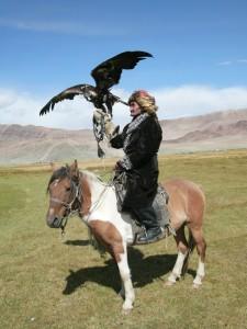 Mongolia Bolka Uryna- polowanie z orłem na wilki